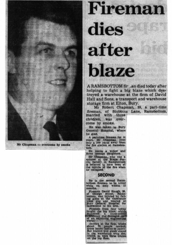 Bob Chapman 26 July 1972