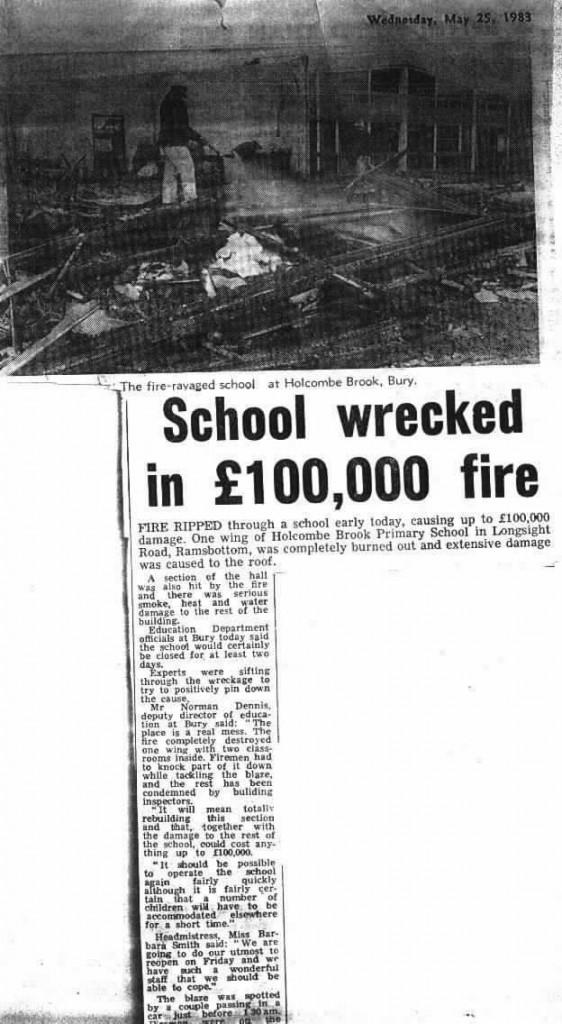 Holcombe Brook school 1983