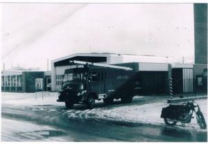 Lancs CC engine at Stubbins Lane station, 1960s