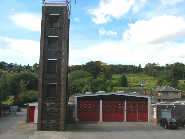 Situated to the north of Ramsbottom on Stubbins Lane the fire station has two Volvo water ladder appliances on stand by at any one time. Paul Anderson Geograph